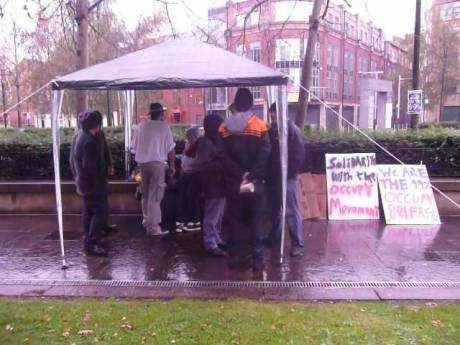 #OccupyBelfast: It rains cats and dogs up north too