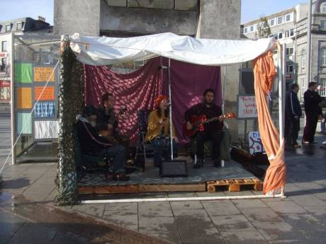 Occupy Galway: the weather proof stage