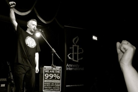 Billy Bragg: Always get great audience response in Belfast.