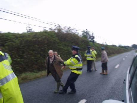 Garda� being rough with an elderly man