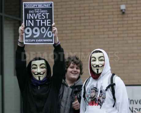 #OccupyBelfast: Anonymous on the streets