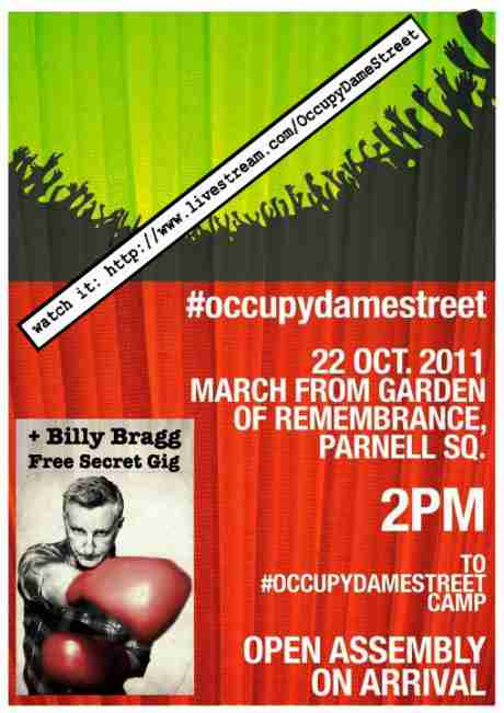 #OccupyDameStreet March + Billy Bragg secret solidarity gig