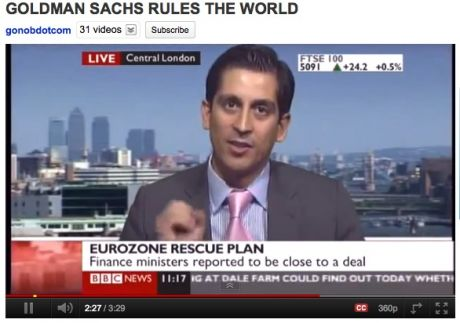 Trader on BBC: The Collapse Is Coming...And Goldman Sachs Rules The World