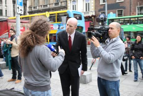 TV3 interview #OccupyDameStreet