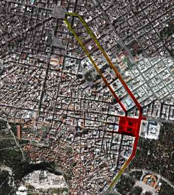 The battle lines of Athens; focusing on the parliament where protesters try to hold up the austerity vote