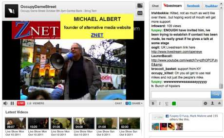 """Serious political thought"" @ #OccupyDameStreet: Micheal Albert"