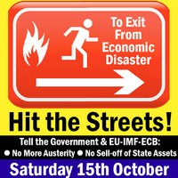 To Exit from Economic Disaster.... HIT THE STREET Oct 15th