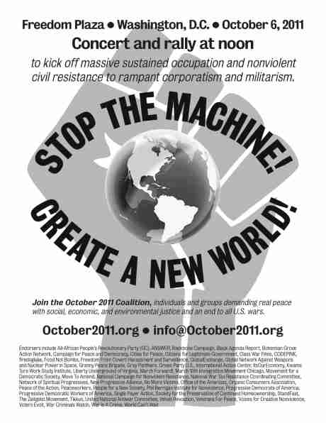 Stop the Machine! Create a New World!