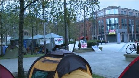 Occupy Belfast tent city is growing; from 4 to 8 to 13 including a fancy big one