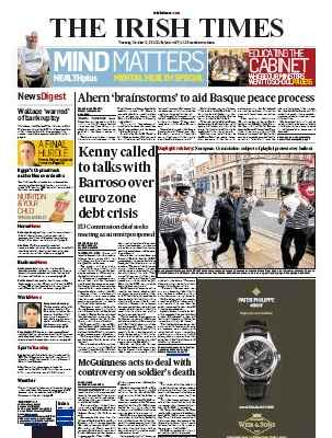 DAYLIGHT ROBBERY: main photo on todays Irish Times (#OccupyDameStreet - Day 4)
