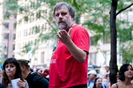 """Serious political thought"" @ #OccupyWallStreet: Slavoj �i�ek"