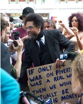 """Serious political thought"" @ #OccupyWallStreet: Cornell West"