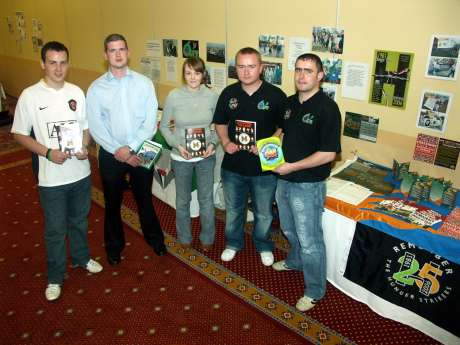 Armagh ÓSF activists set up stall