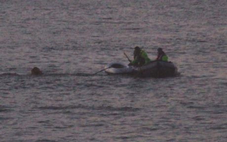 The seizure of the S2S Hypatia - 2. Crew tipped overboard by Garda boat.