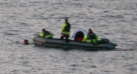 The seizure of the S2S Hypatia - 3. Garda boat chasing down crew.