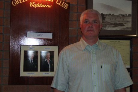 Martin McGrath, competitions' secretary, Greenore Golf having almost completed a hard day's work well done.