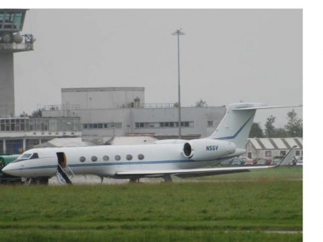 N5GV on the ground at Shannon.