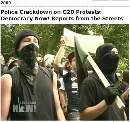G20 Pitsburgh; This is what democracy looks like