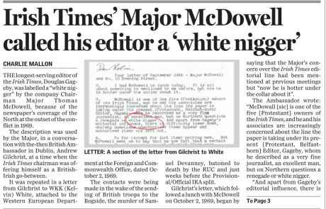 The Sunday Independent reports major (though secret) editorial interference in the Irish Times - 26 Jan 2003 [CLICK TO READ]