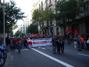 CGT section on the march