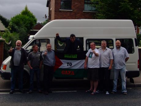 Belfast to Gaza crew before leaving Ireland