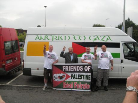 Antrim to Gaza crew before leaving Ireland