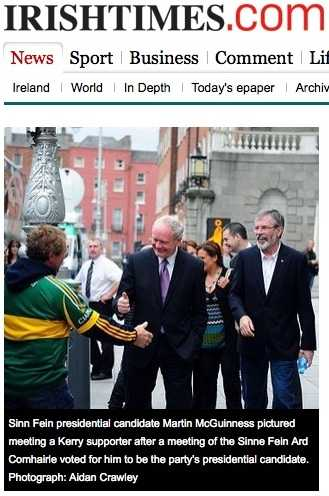 Martin McGuiness gets huge support from GAA fans on Sunday before the Dubs huge win