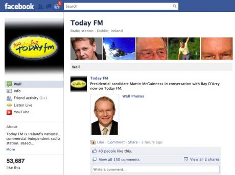 Ray Darcy chats to Martin McGuinness on Today FM today