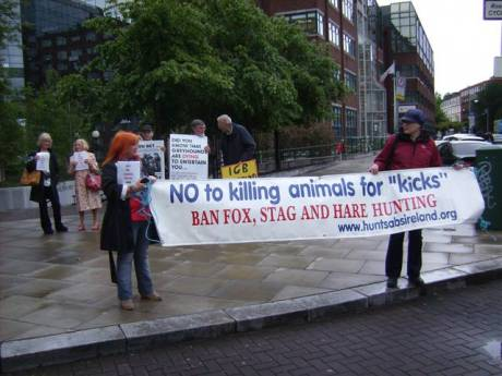 Campaigners draw attention to bloodsports cruelty