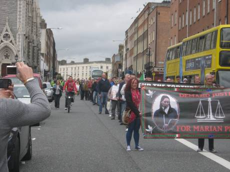 Section of the march at the beginning, Frederick St. and Parnell Square.