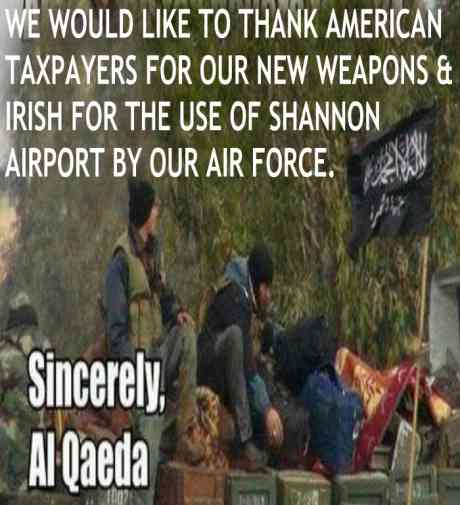 AL QAEDA AIRFORCE OUT OF SHANNON IRELAND