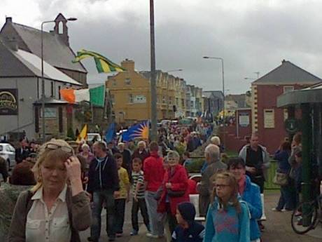 A section of the crowd that attended the 33rd Annual National Hunger Strike Commemoration in Bundoran, Donegal, on Saturday 30th August 2014.